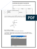 Mosfet Characteristics Spice Parameters