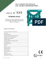 Diaphragm Pump Manual(B25 X25 Metallic Manual)
