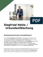 Siegfried Nehls / Urkundenfälschung