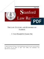 THE LAW, CULTURE, AND ECONOMICS OF FASHION