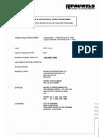 Pauwels Transformer Documents & Certs