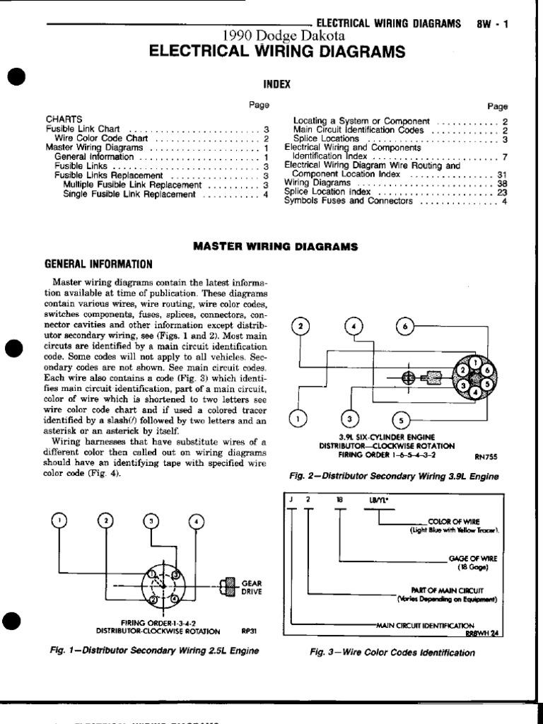 90 dakota wiring  scribd