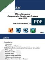 Lumerical Siliconphotonics Components Webinar
