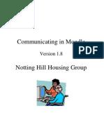 Moodle v1.8 Communications