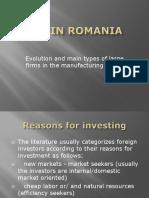 Fdi in Romania