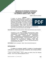 As campanhas eleitorais vitoriosas de Francisco Lacerda de Aguiar no Espírito Santo - Ueber José de Oliveira.pdf
