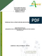 Programa Prestacion Del Servicio de Aseo Emseral
