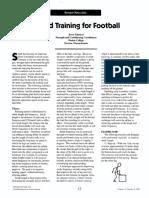 Speed Training for Football