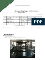 Automatic Liquid Detergent Filling Capping Machine - Volumetric Type