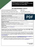 NLU Notice- January 2018