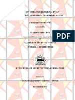 USE OF VORONOI DIAGRAM IN AN ARCHITECTURE DESIGN OPTIMIZATION