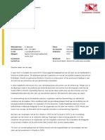 Raadsbrief Uitwerking Haalbaarheid Vuelta 2020