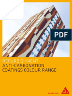 Anti Carbonation Coatings Colour Card 6pp Sgl Pg
