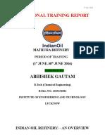 IOCL intern report