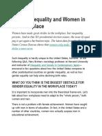 Legal Basis Gender Equality
