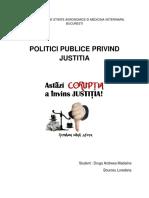 Politici Publice Cu Privire La Sistemul de Coruptie