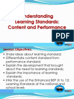 Jomz - Learning Standards (Content & Performance)