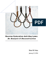 Russian Federation Anti-Gay-Laws