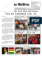 CCC Millwrite - Student Newsletter 2018