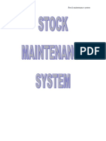 26623608 Stock Maintenance System