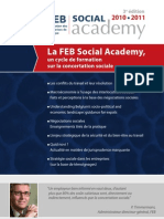 La FEB Social Academy , le programme 2010-2011
