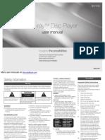 Samsung Bd-F5100 Blu-Ray Disc Player BDF5100