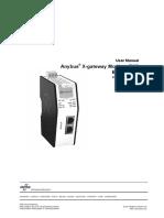 User Manual anybus x gateway