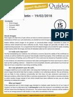 Quidos Technical Bulletin - 19/02/2018