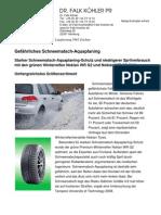 Gefährliches Schneematsch-Aquaplaning - Starker Schneematsch-Aquaplaning-Schutz und niedrigerer Spritverbrauch mit den grünen Winterreifen Nokian WR G2 und Nokian WR G2 SUV - Umfangreichstes Größensortiment
