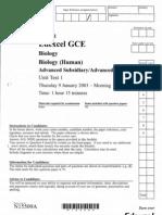 Unit 1 - January 2003