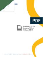 Configuración de Ficheros PST en Outlook 2010