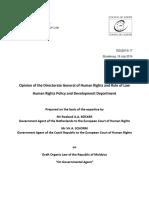 Legea Cu Privire La Agentul Guvernamental, Opinia Comitetului Pentru Drepturile Omului