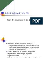 Administração de RH - Porf Alexandre Quadros