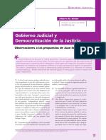 Binder - Gobierno judicial y democratización de la justicia