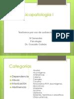Psicopatología I Drogas