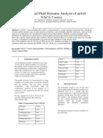 Computational Fluid Dynamic Analysis of Airfoil NACA 7 Series