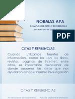 Ejemplos de Citas y Referencias