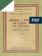 Theobaldo Miranda Santos - Métodos e Técnicas Do Estudo e Da Cultura