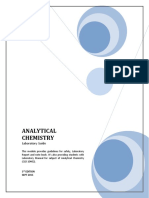 Lab Manual CLD10402 Analytical Chemistry