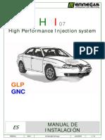 Sistema Alimentacion GLP y GNV