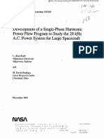 Development of a Single-Phase Harmonic Power Flow Program to Study the 20 kHz A.C. Power System for Large Spacecraft
