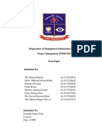Front Page for Project Managment