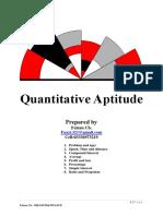Quantitative Problems Mcqs