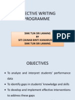 Effective Writing Programme