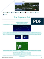 Physics-Golf Ball Flight