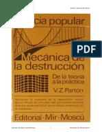 Mecanica de La Destruccion -Vladimir Zalmanovich Parton