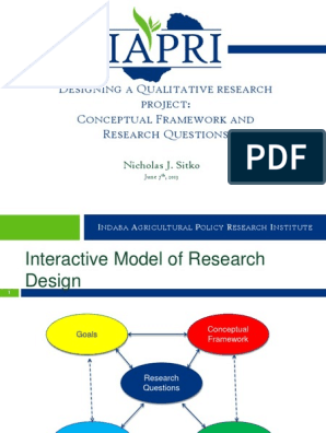 Conceptual Framework and Research Questions | Conceptual
