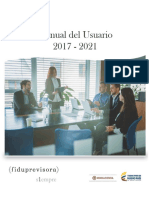 Manual Del Usuario Fiduprevisora 2017-2021