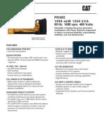 Data Sheet 1250kw Cat 3512 Prime