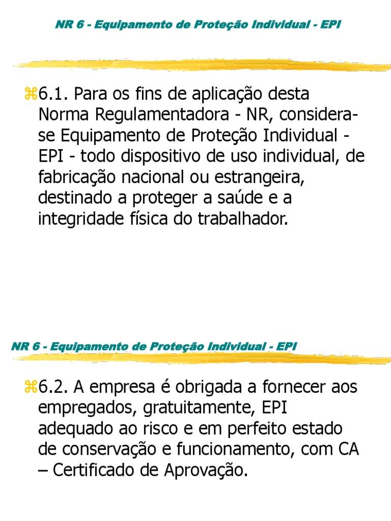 EPIs Dos Pés a Cabeça 4d49540aad